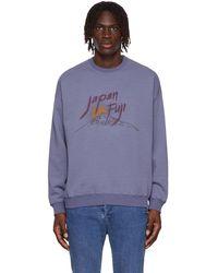 Remi Relief Japan Fuji Sweatshirt - Purple