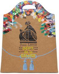 Lanvin Galley Dept. エディション タン Kraft Paper Grocery トート - マルチカラー