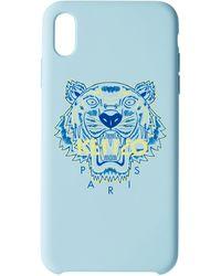 KENZO ブルー & イエロー タイガー Iphone X+ ケース