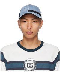 Dolce & Gabbana - ブルー And ブラック デニム ベースボール キャップ - Lyst