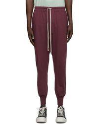 Rick Owens Drkshdw Burgundy Level Lounge Trousers - Multicolour