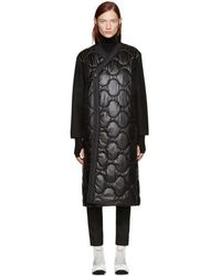 Hyke - Black Quilted Nylon Coat - Lyst