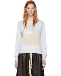 Chloé グレー Femininity スウェットシャツ