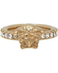 Versace Gold Swarovski Medusa Ring - Metallic