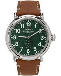 Shinola シルバー & グリーン The Runwell 47 Mm 腕時計
