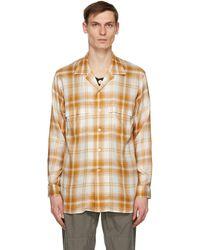 BED j.w. FORD オレンジ & オフホワイト Inner Vest シャツ - マルチカラー