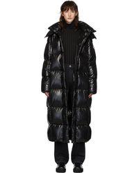 Moncler Ssense Exclusive Black Down Parnaiba Coat