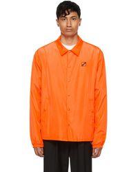 we11done - オレンジ ロゴ ウインドブレーカー ジャケット - Lyst