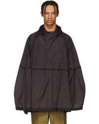 Jil Sander - Purple Nylon Wide Pullover Jacket - Lyst