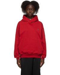 Vivienne Westwood Pull à capuche rouge à logo