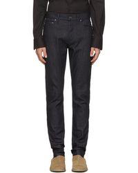 Bottega Veneta - Navy Stretch Denim Jeans - Lyst
