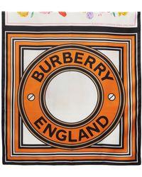 Burberry - マルチカラー シルク Montage Print スカーフ - Lyst