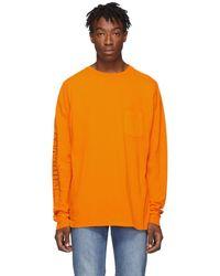Ksubi T-shirt a manches longues orange Machine Hazard