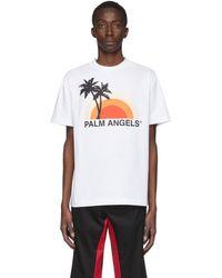 Palm Angels - ホワイト Sunset T シャツ - Lyst