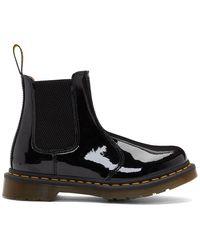 Dr. Martens Black 2976 Patent Chelsea Boots