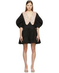 Kika Vargas ブラック & ピンク Victoria ドレス