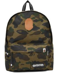 A Bathing Ape Outdoor Products エディション グリーン 迷彩 1st Camo バックパック