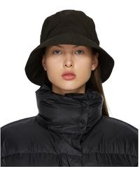 Acne Studios Brown Nylon Bucket Hat - Black