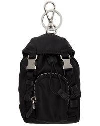 Prada Black Mini Backpack Keychain