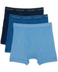 Calvin Klein ブルー Classic Fit ボクサー ブリーフ 3 枚セット
