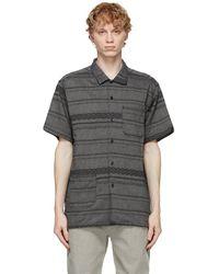 Engineered Garments グレー ストライプ シャツ