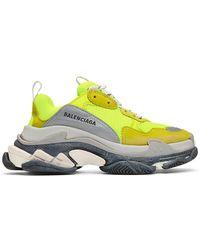 Balenciaga - Yellow Triple S Sneakers - Lyst