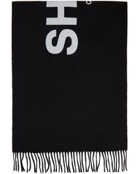 Comme des Garçons Foulard en laine noir 'Shirt 2020'