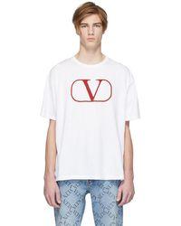 Valentino ホワイト Vlogo T シャツ