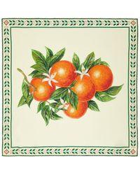 CASABLANCA マルチカラー シルク オレンジ ブロッサム スカーフ - グリーン