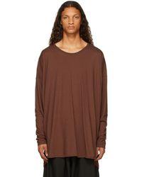 Jan Jan Van Essche Brown #69 Long Sleeve T-shirt