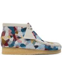 Clarks Multicolour Patchwork Wallabee Desert Boots - Blue