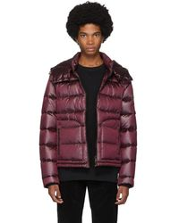49WINTERS Burgundy Down Antartica Second Layer Jacket - Red