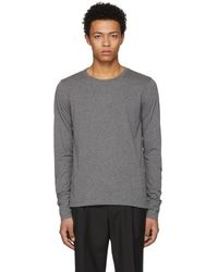 Burberry - Grey Long Sleeve Marchston Burnout T-shirt - Lyst