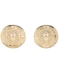 Balmain - Gold Coin Stud Earrings - Lyst