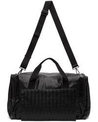 Bottega Veneta ブラック イントレチャート パッカブル ダッフル バッグ