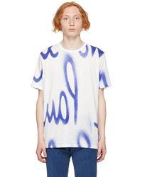 Paul Smith ホワイト & ブルー Spray T シャツ