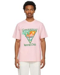 CASABLANCA - ピンク Tennis Club T シャツ - Lyst