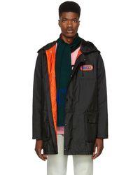 Gucci ブラック ナイロン パナマ コート