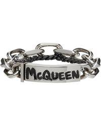 Alexander McQueen Bracelet Gaff argenté - Métallisé