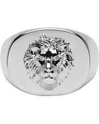 Versus - Silver Lion Ring - Lyst