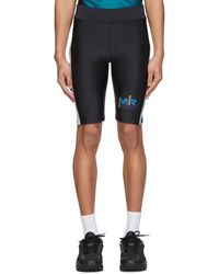 Martine Rose Ssense Exclusive Black & Green Cycling Shorts