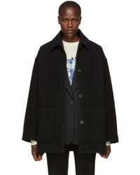 Acne Studios - Black Four-button Coat - Lyst