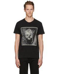 Alexander McQueen - Black Crowned Skull T-shirt - Lyst
