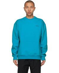 ADER error Blue Oversized Kangaroo Pocket Sweatshirt