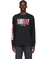 AWAKE NY Black Bloom Long Sleeve T-shirt