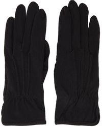 Yohji Yamamoto Black Slit Gloves