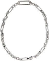 Maison Margiela - Silver Chain Choker Necklace - Lyst