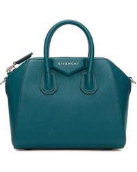 Givenchy - Blue Mini Antigona Bag - Lyst