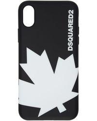 DSquared² - Black Maple Leaf Logo Iphone X Case - Lyst