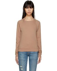 AMO - Pink Distressed Raglan Sweatshirt - Lyst